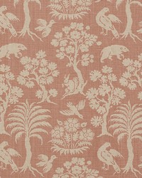 Schumacher Fabric Woodland Silhouette Blush Fabric