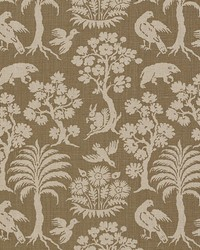 Schumacher Fabric Woodland Silhouette Mocha Fabric