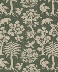 Schumacher Fabric Woodland Silhouette Moss Fabric