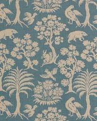 Schumacher Fabric Woodland Silhouette Cadet Fabric