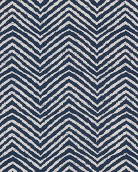 Schumacher Fabric Moka Indigo Fabric