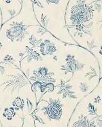 Schumacher Fabric Chinoiserie Vine China Blue Fabric