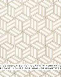 Schumacher Fabric Tumbling Blocks Contract Natural Fabric