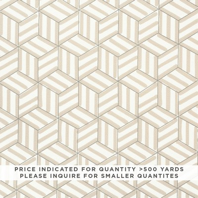 Schumacher Fabric TUMBLING BLOCKS CONTRACT NATURAL Search Results