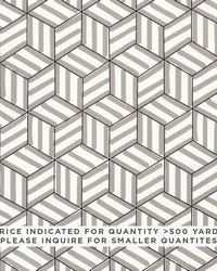 Schumacher Fabric Tumbling Blocks Contract Grey Fabric