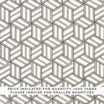 Schumacher Fabric TUMBLING BLOCKS CONTRACT GREY Search Results