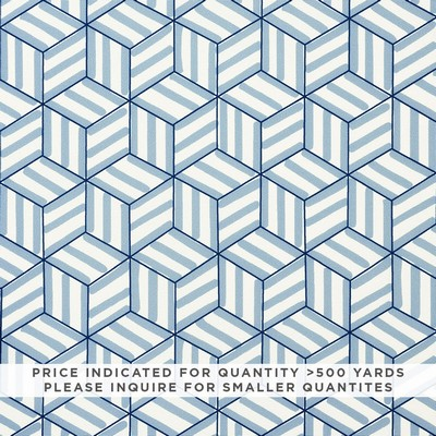Schumacher Fabric TUMBLING BLOCKS CONTRACT BLUE Search Results