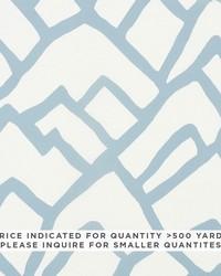 Schumacher Fabric Zimba Contract Blue Fabric