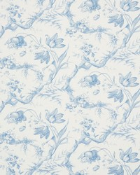 Schumacher Fabric Toile De Fleurs Delft Fabric