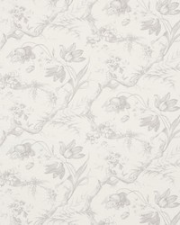 Schumacher Fabric Toile De Fleurs Grisaille Fabric