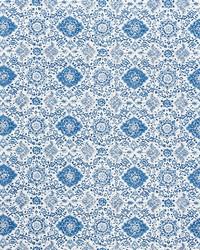Schumacher Fabric Montecito Floral Indigo Fabric