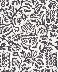 Schumacher Fabric Morris Carbon Fabric