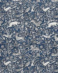 Schumacher Fabric Kahns Park Navy Fabric