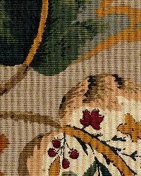 Schumacher Fabric Fox Hollow Multi On Flannel Fabric