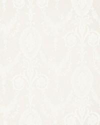 Schumacher Fabric Jacquard Madras Ivory Fabric