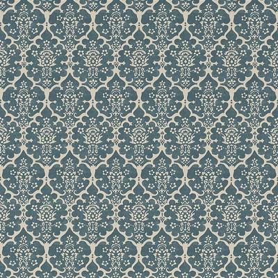 Schumacher Wallpaper BURLEY PEACOCK BLUE Search Results