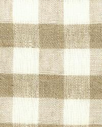 Schumacher Fabric Sidney Check Sheer Natural Fabric
