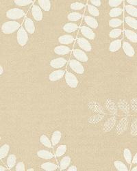Schumacher Fabric Locust Leaves Sand Fabric