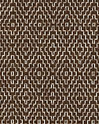 Schumacher Fabric Hampton Court Diamond Chocolate Fabric