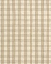 Schumacher Fabric Elton Cotton Check Beige Fabric