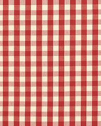 Schumacher Fabric Elton Cotton Check Red Fabric