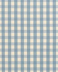 Schumacher Fabric Elton Cotton Check Chambray Fabric