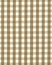 Schumacher Fabric Elton Cotton Check Mocha Fabric
