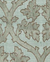 Schumacher Fabric Ravenna Embroidery Mineral Fabric