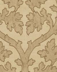 Schumacher Fabric Ravenna Embroidery Camel Fabric