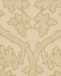 Schumacher Fabric Ravenna Embroidery Bone Fabric