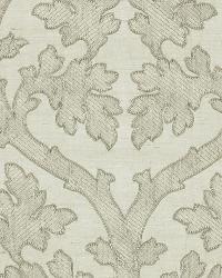 Schumacher Fabric Ravenna Embroidery Silver Fabric