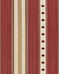 Schumacher Fabric Francesca Stripe Rouge Fabric