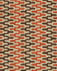 Schumacher Fabric Rivington Weave Red Earth Fabric