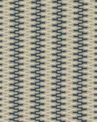 Schumacher Fabric Rivington Weave Navy Fabric