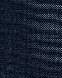 Schumacher Fabric Cap Ferrat Weave Navy Fabric