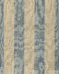 Schumacher Fabric Augustin Linen Stripe Denim   Linen Fabric