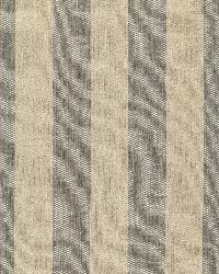 Schumacher Fabric Augustin Linen Stripe Steel   Linen Fabric