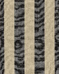 Schumacher Fabric Augustin Linen Stripe Ebony   Linen Fabric
