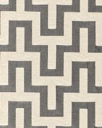 Schumacher Fabric Maubray Weave Graphite Fabric