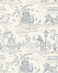 Schumacher Fabric Bassano Embroidered Toile Delft Fabric
