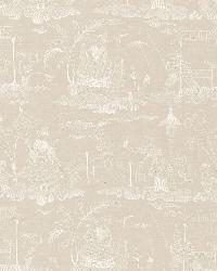 Schumacher Fabric Bassano Embroidered Toile Linen Fabric