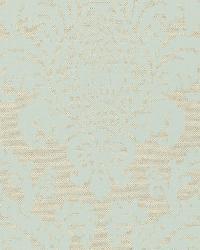 Schumacher Fabric Firenze Linen Damask Aqua Fabric