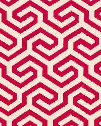 Schumacher Fabric Ming Fret Cerise Fabric