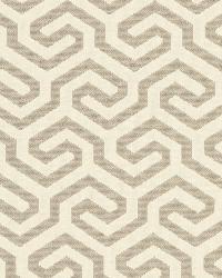 Schumacher Fabric Ming Fret Flax Fabric