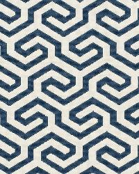 Schumacher Fabric Ming Fret Navy Fabric