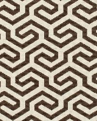 Schumacher Fabric Ming Fret Chocolate Fabric