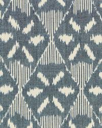 Schumacher Fabric Darjeeling Cotton Ikat Denim Fabric