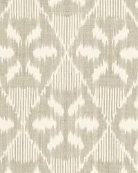 Schumacher Fabric Darjeeling Cotton Ikat Stone Fabric