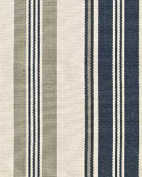 Schumacher Fabric Fjord Stripe Indigo Fabric