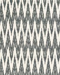 Schumacher Fabric Kilimanjaro Ikat Charcoal Fabric